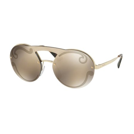 16983987323 Prada - Prada Womens OPR 65TS ZVN ODW Pale Gold Copper Mirror Sunglasses -  Walmart.com