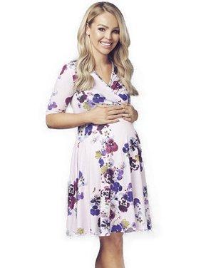 Women's Floral V Neck Maternity Summer Swing Dress
