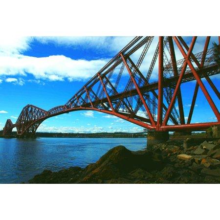 Canvas Print Bridge Rail Landmark Forth Rail Bridge Steel Stretched Canvas 10 x 14