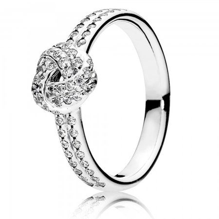 Sparkling Love Knot Clear CZ Ring Size 7 - 190997CZ-54