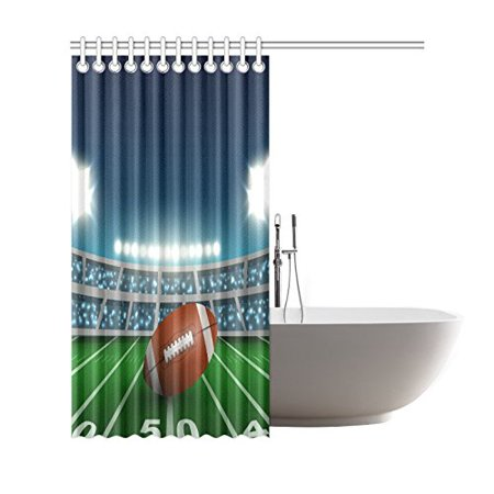 GCKG Sports Stadium Shower Curtain, American Football Polyester Fabric Shower Curtain Bathroom Sets 66x72 Inches - image 2 of 3