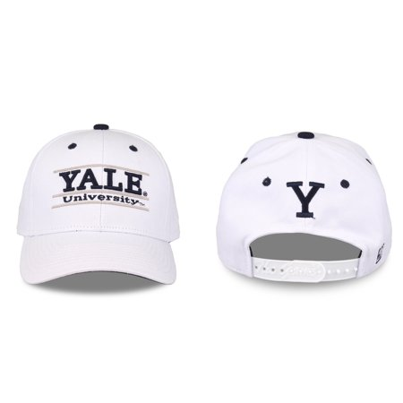 - Yale Bulldogs Adult Game Bar Adjustable Hat - White