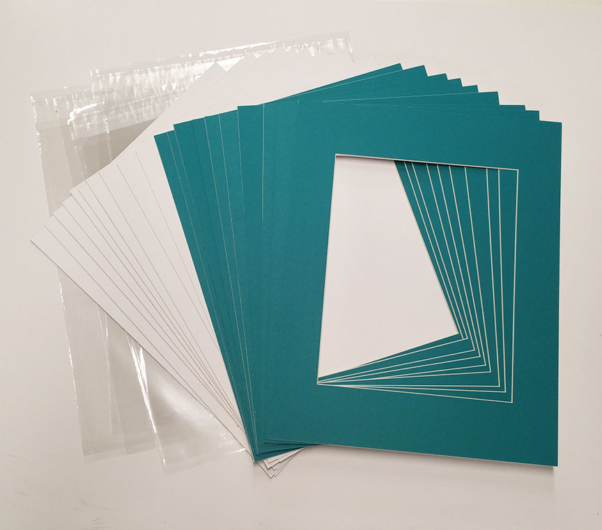 20x24 White Picture Mats with White Core for 16x20 Pictures - Fits ...