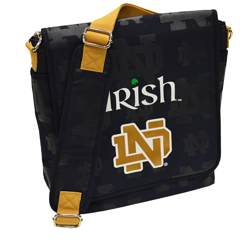 NCAA Diaper Bag by Lil Fan, Messenger Style - Notre Dame Fighting Irish