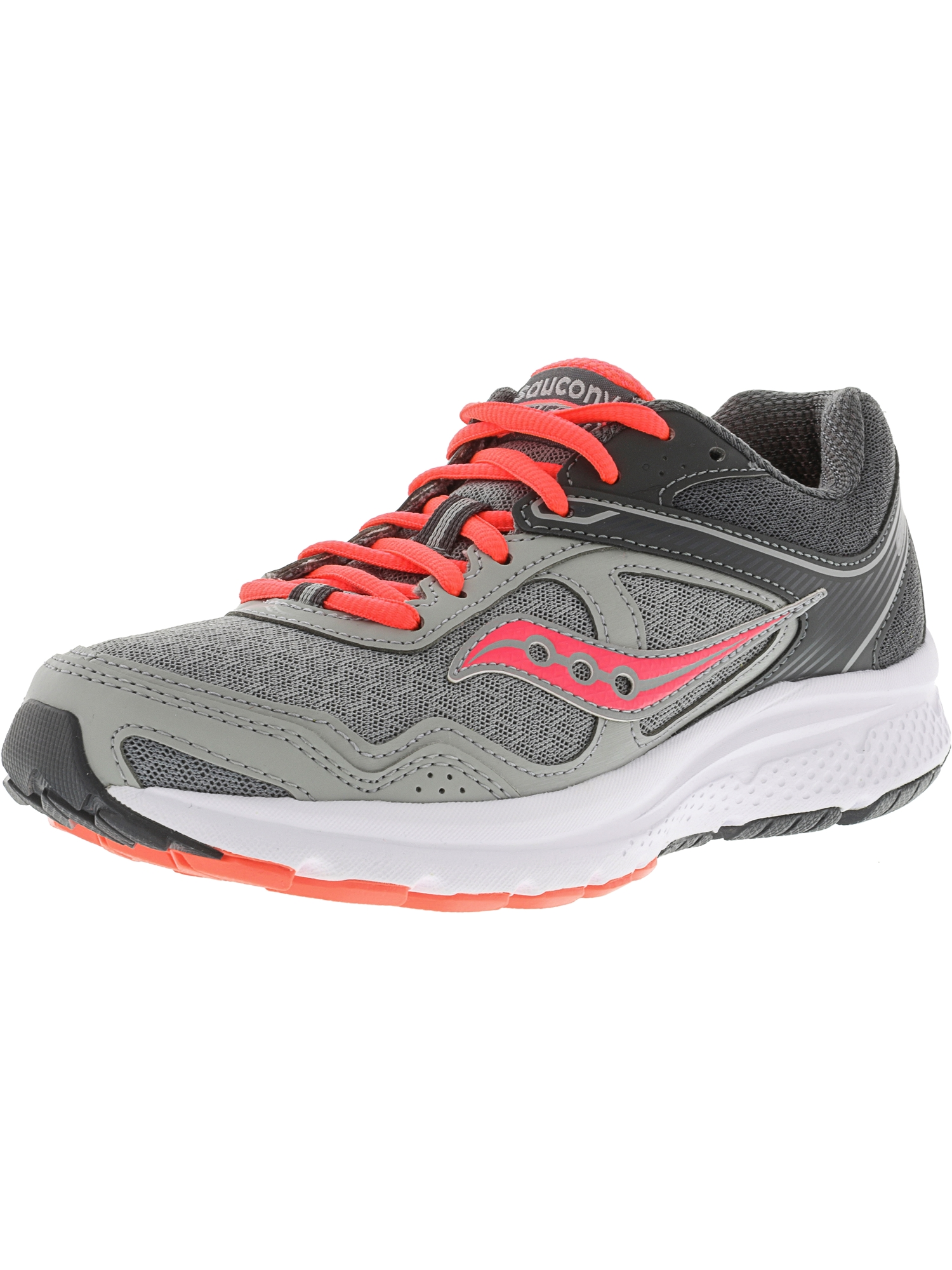 Women's Grid Cohesion 10 Grey / Coral Ankle-High Running Shoe - 10M