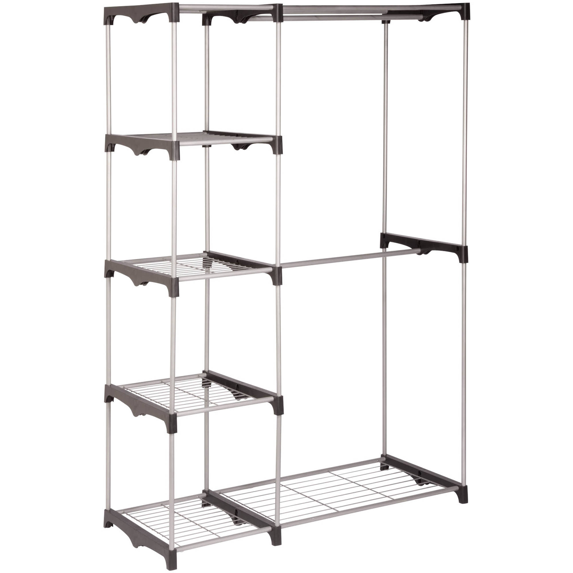 Honey Can Do Double Rod Freestanding Closet   Walmart.com
