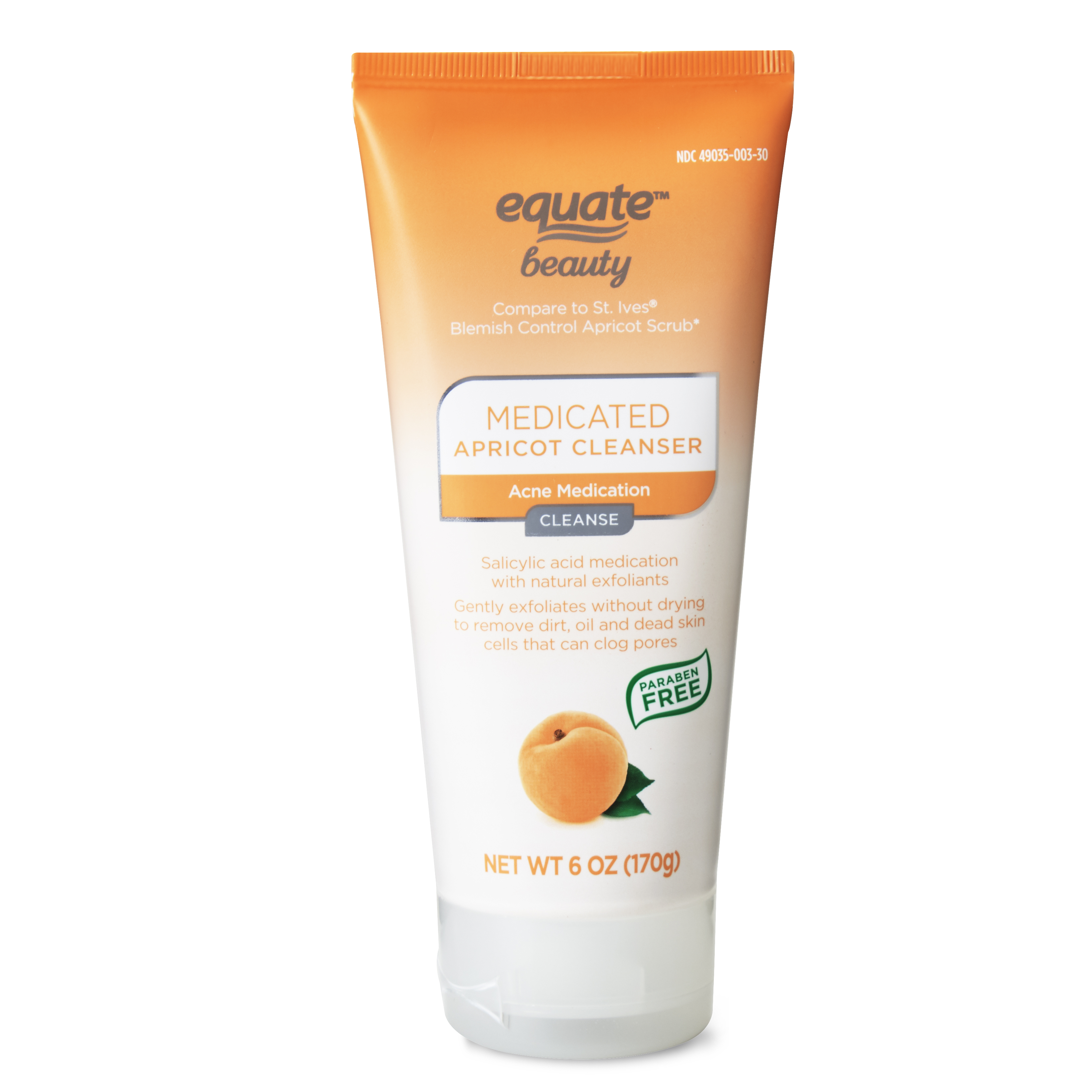 Equate Beauty Blemish Control Apricot Scrub 6 Oz Walmart Com