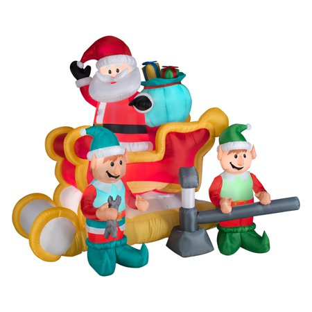 Santas Animated Sleigh (Gemmy Airblown Animated Santa with Sleigh)