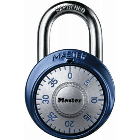 Loto Aluminum Shackle (1561DASTWalmartbination Dial Padlock with Aluminum Cover, 1-7/8-Inch Wide Body, 9/32-Inch Diameter Shackle, Color May Vary, PADLOCK APPLICATION: For indoor use; lock.., By Master Lock)
