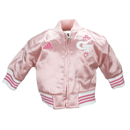 Adidas Infant / Toddler Baby Georgia Tech Yellow Jackets Varsity Jacket - Pink 1990 Georgia Tech Yellow Jackets