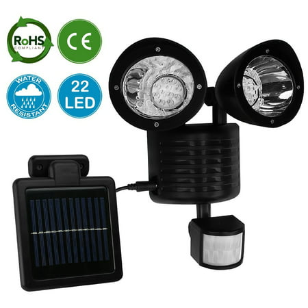 Head Outdoor Garden - All clearance Outdoor Solar Garden Lights 22 LED Dual Head Motion Sensor Powered Garden Lights