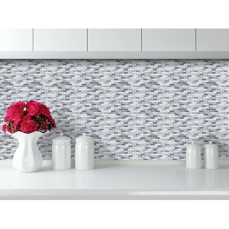 - Easy Peel & Stick 3D Vinyl Tile For Kitchen or Bathroom Backsplash or Border. WM-129C, 4 Sheets, 2.83 Sq.Ft.