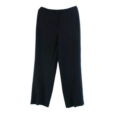 Louben New Black Womens Size 4p Petite Flat Front Trouser Dress