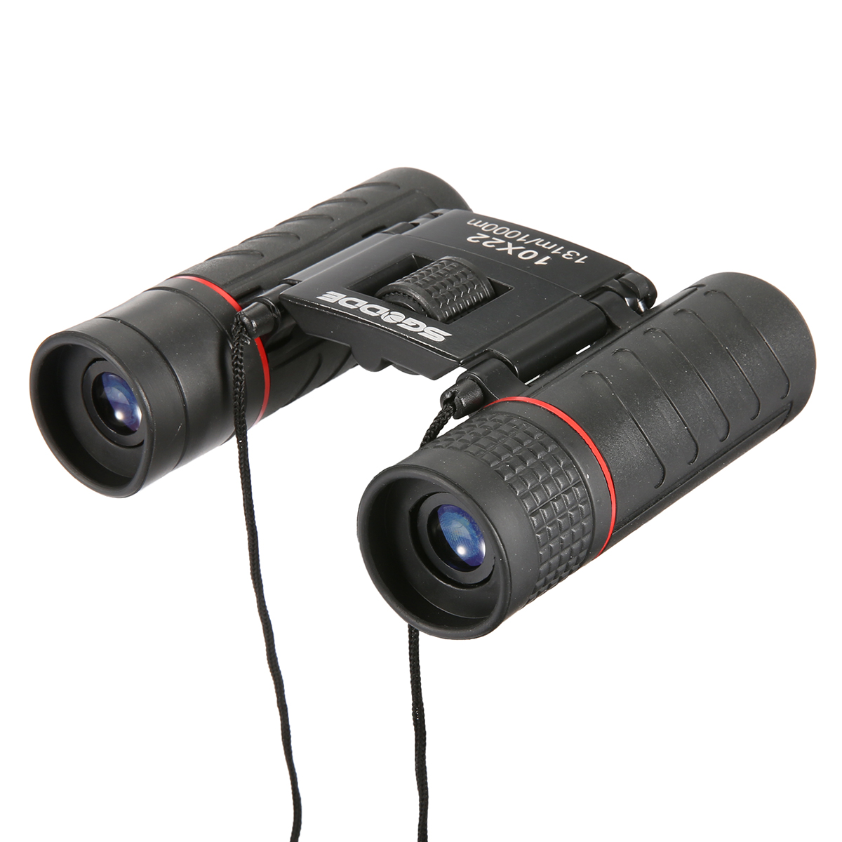 SGODDE 10x22 Binoculars Waterproof Folding High Powered Binoculars Mini Pocket Night Vision with Bag camerasphoto for Outdoor Bird Watching Travelling Concert