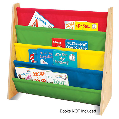 Tot Tutors Kids Book Rack Storage Bookshelf, Multiple Colors