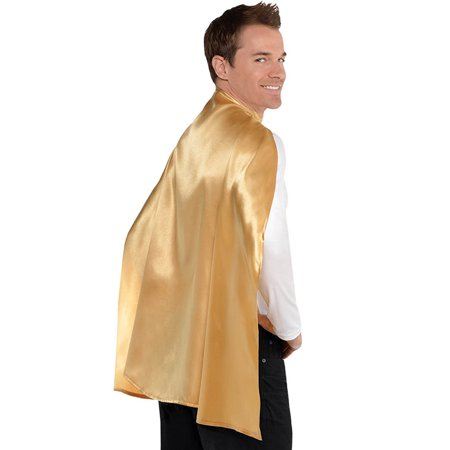 Gold Superhero Cape - Size ONE SIZE FITS MOST ADULTS AND KIDS - Adult Superhero Capes