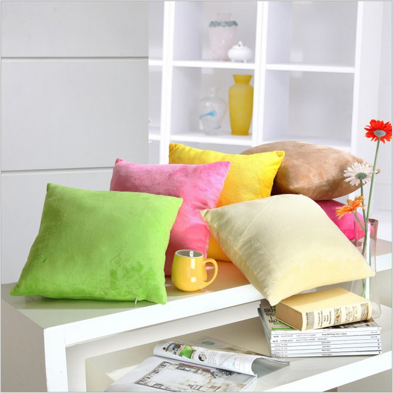 19'' x 19'' Solid Soft Suede Throw Pillow Cover Decorative Cushion Cover for Teen Girl's Room/ Nursery/ Baby/ Wedding