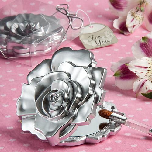 120 Realistic Rose Design Mirror Compacts
