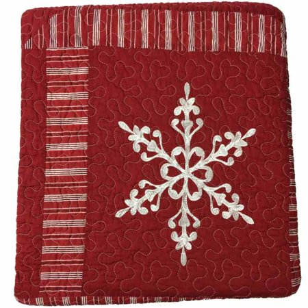 St Nicholas Square Holiday Collection Snowflake Quilt Full/Queen Quilt Only