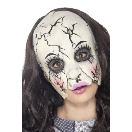 Damaged Doll Mask Costume Accessory - Doll Mask