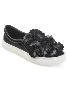 cac9dcf38377 Product Image Women s Faux Leather Cascading 3D Flowers Slip-on Sneakers