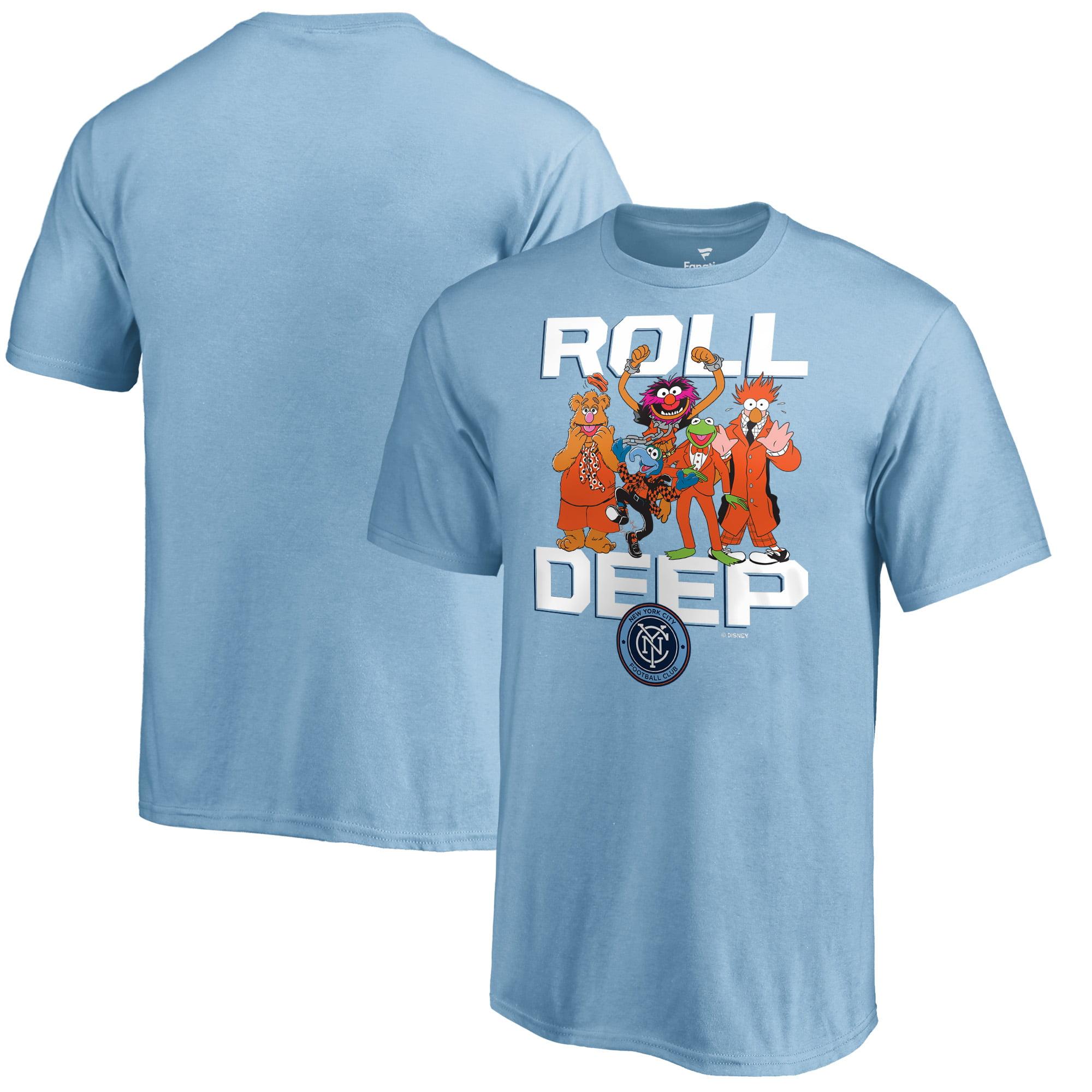 New York City FC Fanatics Branded Youth Disney Roll Deep Muppets T-Shirt - Light Blue