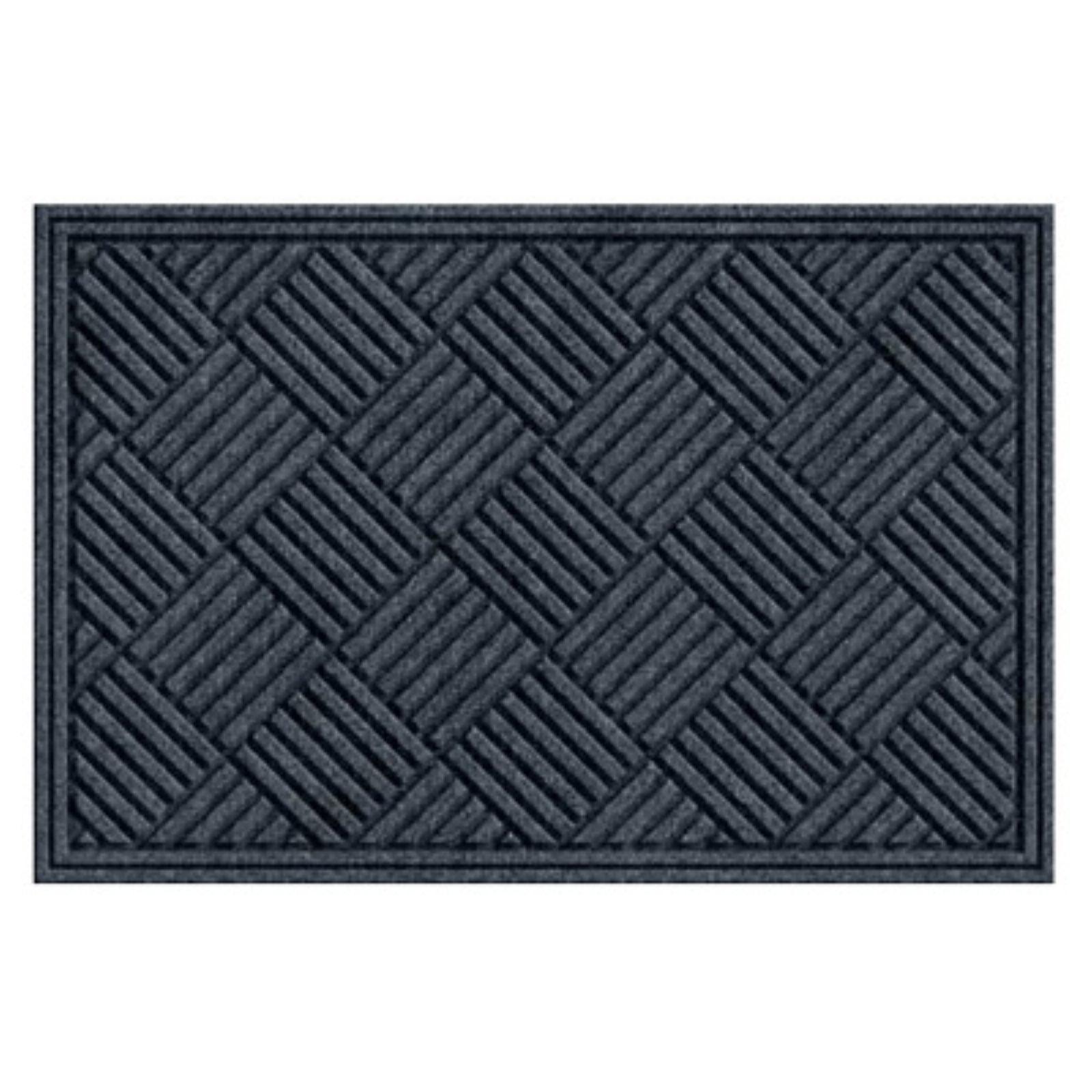 Tire Tuff Textures Crosshatch Doormat Smoke by Apache Mills