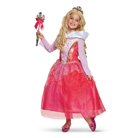 Girls Aurora Deluxe Sleeping Beauty Gown Costume](Womens Sleeping Beauty Costume)