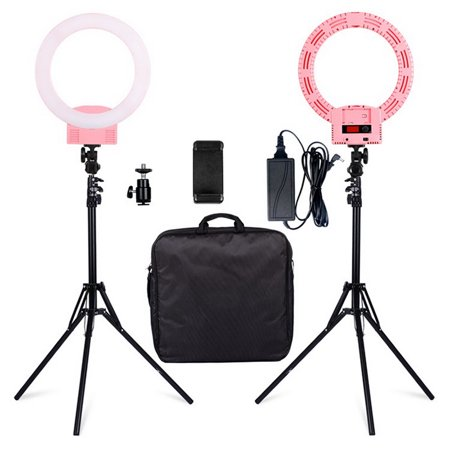 Clearance! Ring Light, 2019 Upgraded Version 12inch Adjustable Bi-ColorTemperature 2500K-6000K with Stand, YouTube Makeup Dimmable Video LED Light Kit, for Video Shooting, Portrait, Vlog, (Best Light Stand 2019)