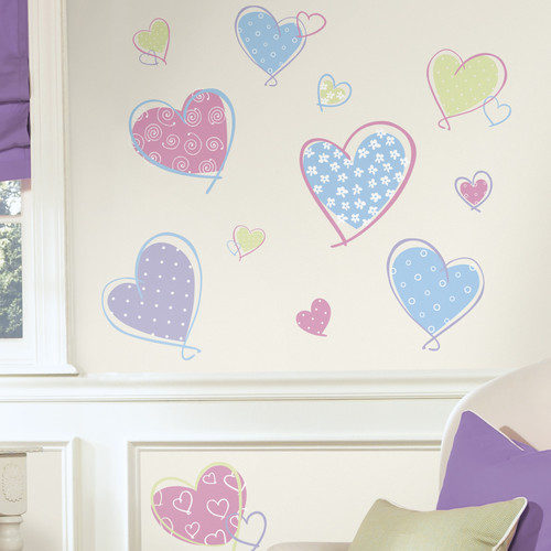 Wallhogs Hearts Wall Decal