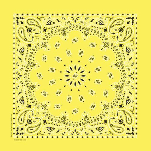 """Have-A-Hank Paisley Bandannas 22""""X22""""-Yellow"""