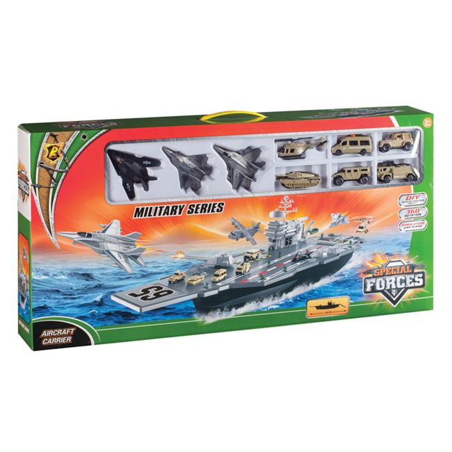Daron Aircraft Carrier BP96243 Playset w  3 Planes and Vehicles by Daron