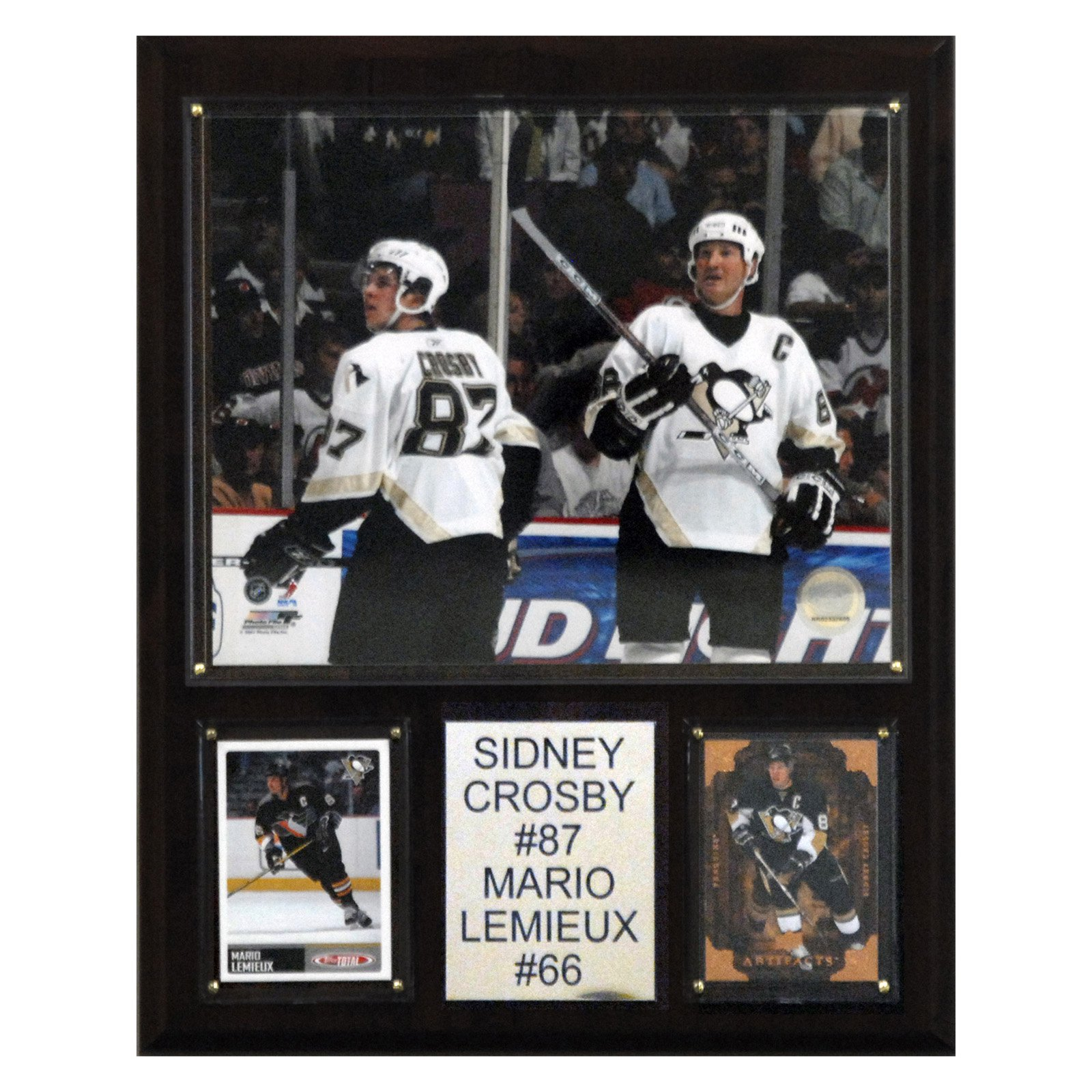 C&I Collectables NHL 12x15 Crosby-Lemieux Pittsburgh Penguins Player Plaque