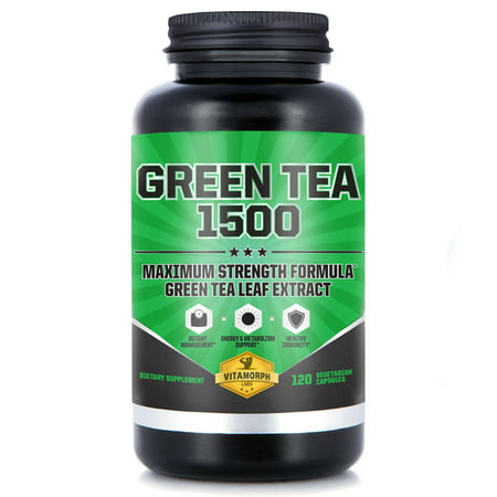 EGCG Green Tea Extract Supplement | Maximum Potency 735mg Green Tea Extract Capsules For A Metabolism Boost & Daily Energy | 120 Vegetarian Capsules