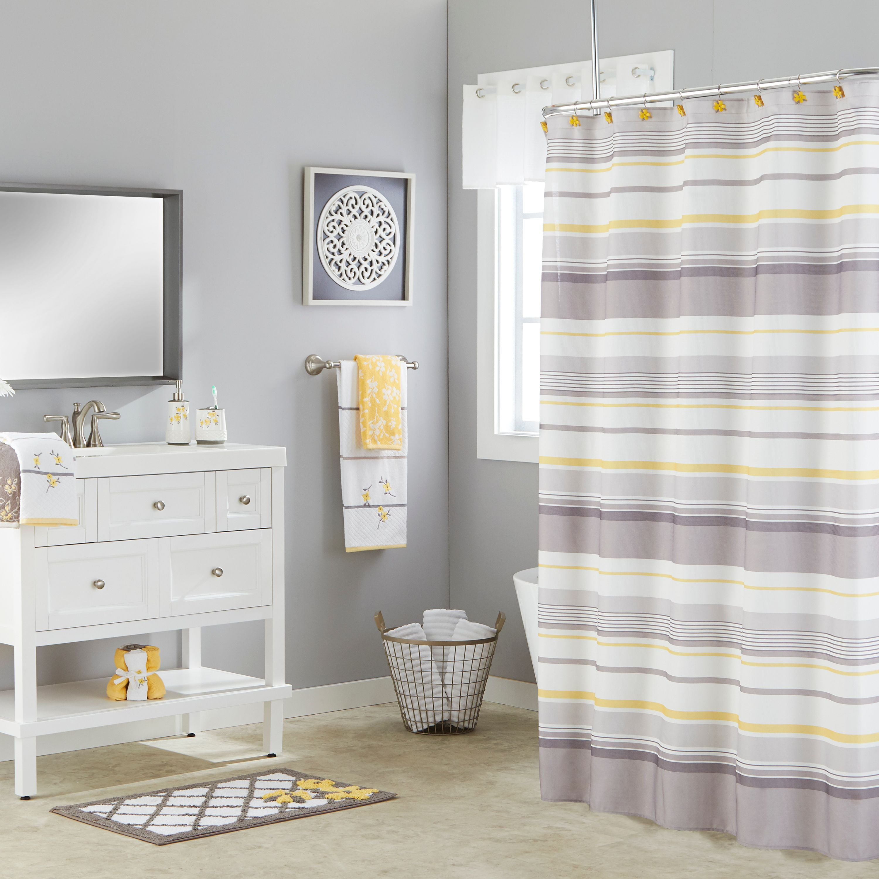 Skl Home Spring Garden Stripe Shower Curtain Walmart Com