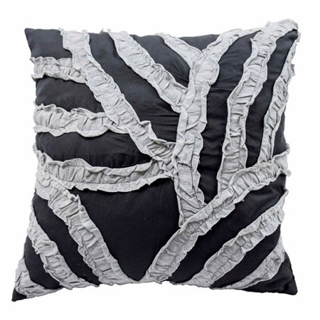 Vue Cersei 16  Fashion Accessory Pillow, Dark Grey Vue Cersei 16  Fashion Accessory Pillow, Dark Grey: Pillow measures: 16  x 16 Hidden zipper closure100 percent polyesterSpot clean onlyCoordinating Vue Cersei bedding and accent pillows sold separatelyImported