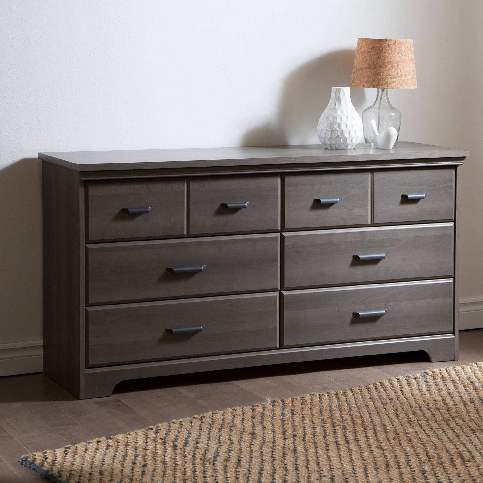 South Shore Versa  Drawer Double Dresser Multiple Finishes Walmart Com