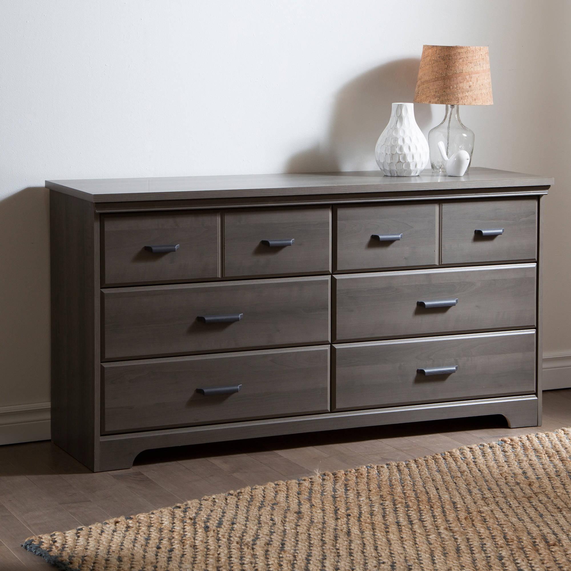 South Shore Versa 6 Drawer Double Dresser Multiple