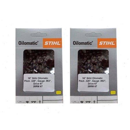 STIHL Oilomatic 26 RM3 81 Rapid Super Chainsaw Chain - 2 Pack + 30%