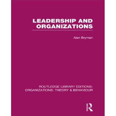 Leadership and Organizations (RLE: Organizations) - image 1 of 1