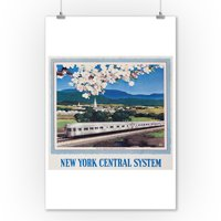 New York Central System - New England States Vintage Poster (artist: Ragan)  c. 1949 (9x12 Art Print, Wall Decor Travel Poster)