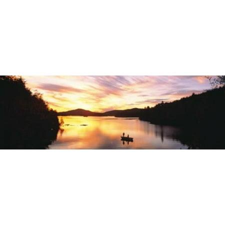 Green Lakes Ny Halloween (Sunset Saranac Lake Franklin Co Adirondack Mtns NY USA Poster)