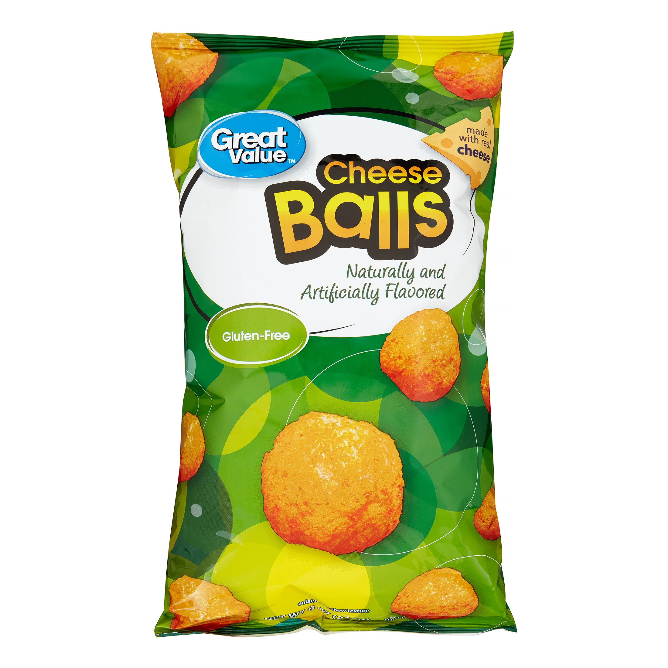 (4 Pack) Great Value Cheese Balls, 8 oz