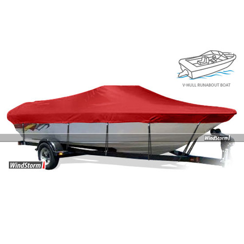 Eevelle WindStorm V-Hull Inboard Fishing Boat Cover with Walk-Thru Windshield