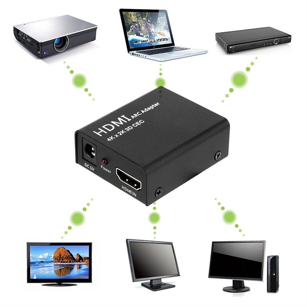 New HDMI ARC Adapter to HDMI + Optical/Toslink Audio Converter 4K 1080P CEC