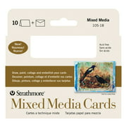 Strathmore Mixed Media Cards, 3.5in x 4.875in, 10/Pkg.