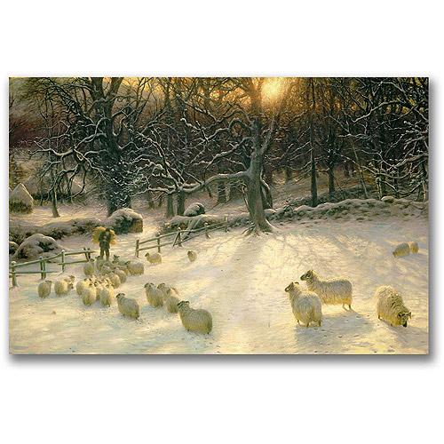 "Trademark Fine Art ""The Shortening Winter's Day"" Canvas Art by Joseph Farquharson"