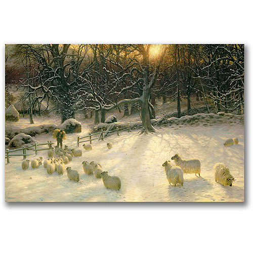 "Trademark Fine Art ""The Shortening Winter's Day"" Canvas Art by Joseph Farquharson"