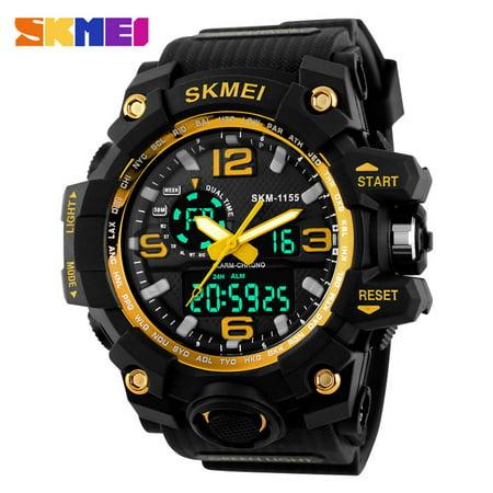 Man Plastic Sports Style Watch (SKMEI New 2016 Luxury Brand LED Military Waterproof Wristwatch Fashion Sport Super Cool Men's Quartz Analog Digital Watch Man Sports Watches )