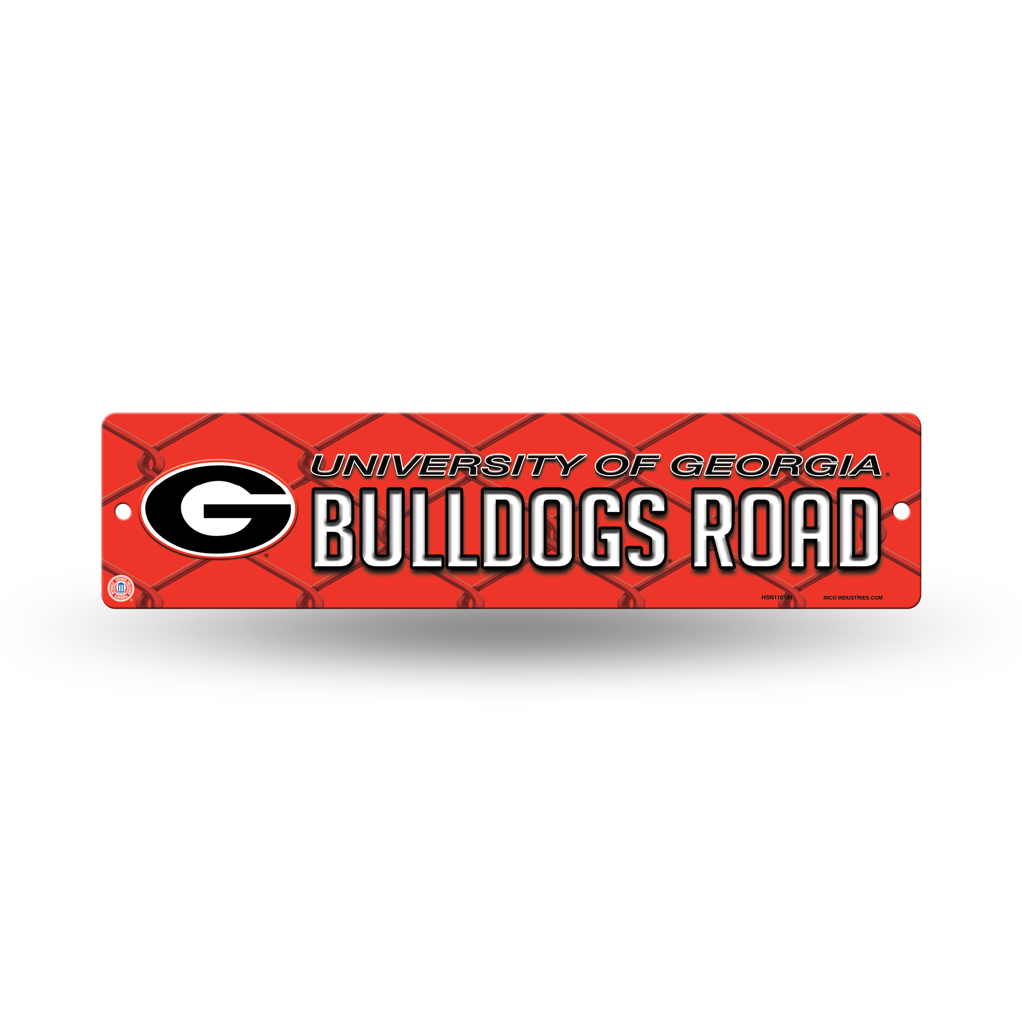 Georgia Bulldogs Official NCAA 16 inch x 4 inch  Plastic Street Sign by Rico Industries